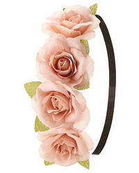 Charlotte Russe Rose Flower Crown Head Wrap