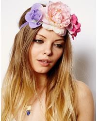 Asos Pretty Flower Side Cluster Hair Band Multi