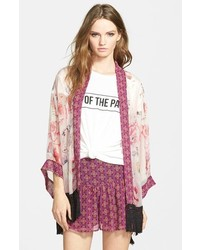 Band Of Gypsies Floral Fringe Kimono
