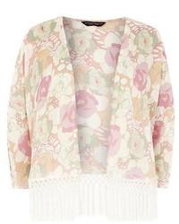 Dorothy Perkins Multi Floral Fringe Kimono