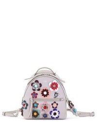 Fendi Baby Leather Floral Backpack