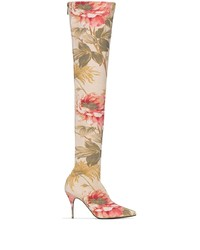 Zimmermann Floral 100mm Over The Knee Boots