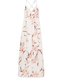 Zimmermann Corsage Floral Print Linen Maxi Dress