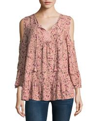 St johns bay st johns bay long sleeve v neck woven floral blouse talls medium 6717074