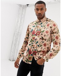 Pink Floral Long Sleeve Shirt