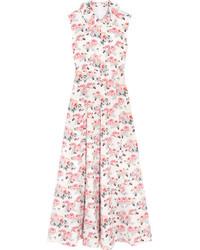 Fabiola floral print cloqu midi dress pink medium 1152743
