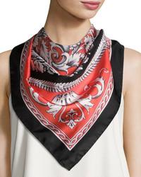 Circular floral foulard scarf peach medium 3705606