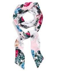 Floral print skinny scarf medium 5209376