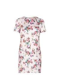 New Look Pink Floral Print Pocket Tunic Dress