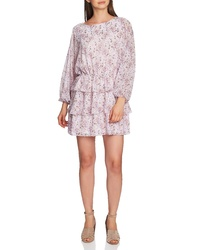 1 STATE Bloomsbury Floral Tiered Ruffle Dress