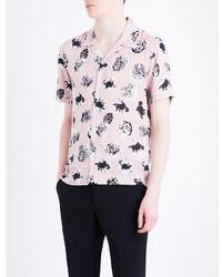 Pink Floral Short Sleeve Shirts for Men | Men's Fashion