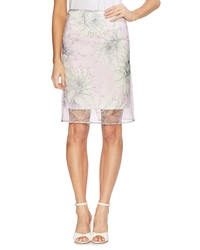 Vince Camuto Pagoda Blossoms Overlay Pencil Skirt