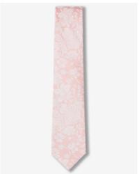 Express Narrow Floral Silk Blend Tie