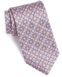 Nordstrom Shop Floral Medallion Silk Tie