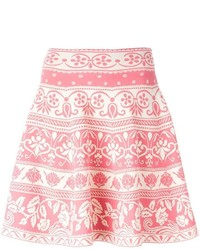 Alexander McQueen Floral Jacquard Flared Skirt