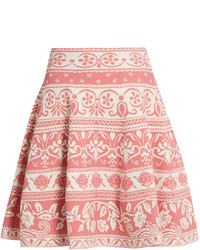 Floral jacquard knit skirt medium 3664676