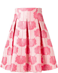 P.A.R.O.S.H. Floral Pleated Skirt