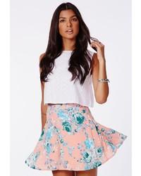 Missguided pritania skater skirt in floral print medium 279582