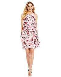Sl fashions floral print chiffon dress medium 469313