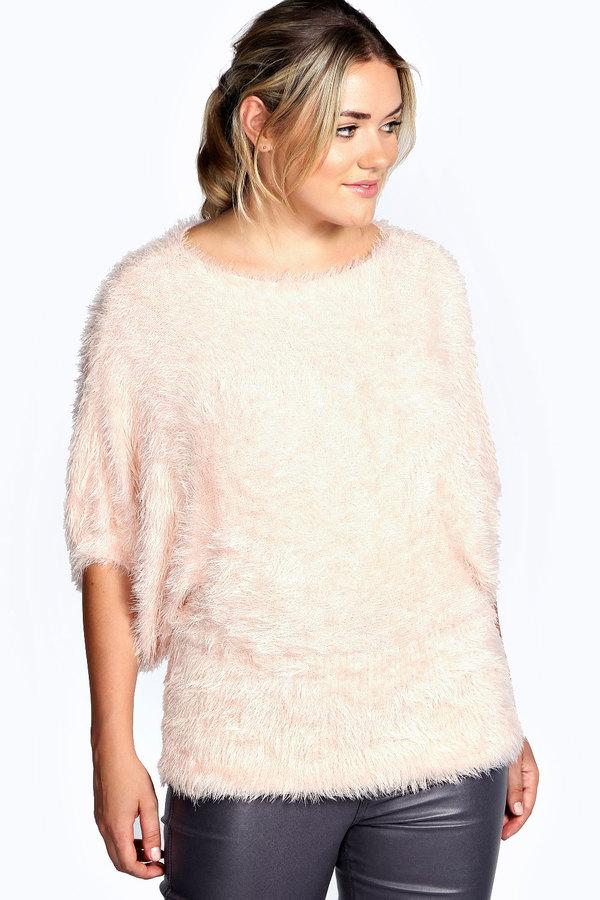 ... Crew-neck Sweaters Boohoo Olivia Fluffy Knit Oversized Jumper ... fdc30cb82