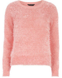 River Island Light Pink Fluffy 34 Sleeve Sweater | Where to buy ...