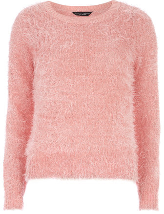 Dorothy Perkins Pink Fluffy Jumper | Where to buy & how to wear