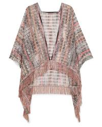 Missoni Fringed Crochet Knit Wrap