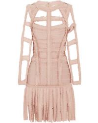 Pink Fringe Sheath Dress