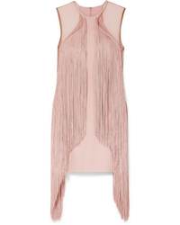 Stella McCartney Ed Fringed Stretch Cady Mini Dress