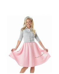 California costumes poodle skirt sock hop pink costume medium 167154