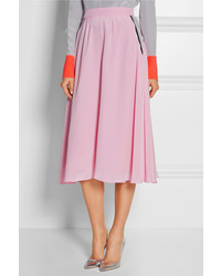 Roksanda Tilton Silk Crepe De Chine Midi Skirt | Where to buy ...