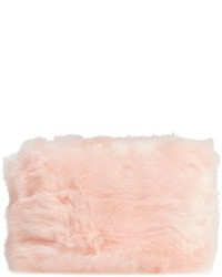 Faux fur clutch pink medium 1044248