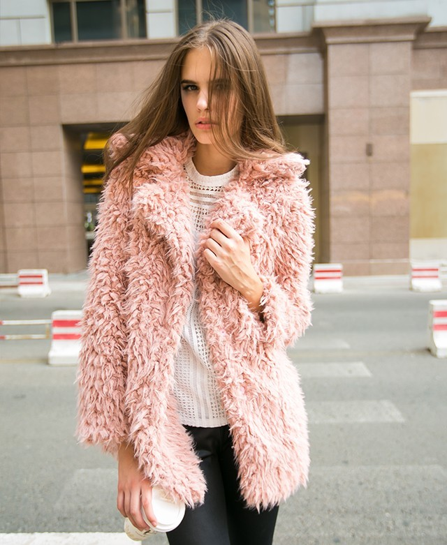 ChicNova Lapel Collar Faux Fur Coat | Where to buy & how to wear