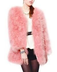 ChicNova Pure Color Artificial Fur Coat