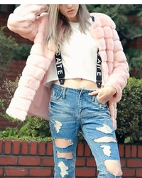 ChicNova Pure Color Imitated Fur Coat