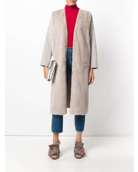 Liska Fur Panel Coat