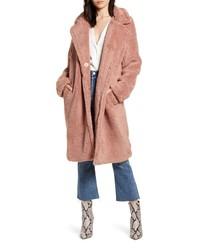 Bardot Long Faux Shearling Coat