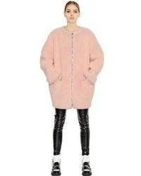 MSGM Faux Shearling Cocoon Coat