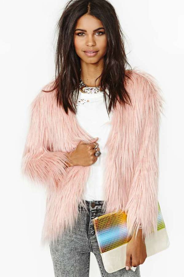 Nasty Gal Fairy Floss Faux Fur Coat | Where to buy & how to wear