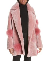 ANNE VEST Peony Genuine Shearling Coat