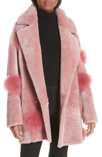 ANNE VEST Peony Genuine Shearling Coat