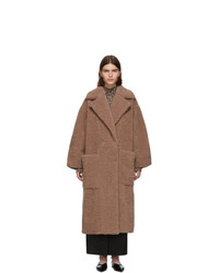 Nanushka Pink Faux Fur Imogen Maxi Coat