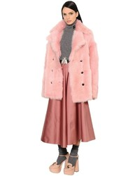 Shearling fur coat medium 4418159