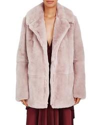 A.L.C. Stone Rabbit Fur Coat