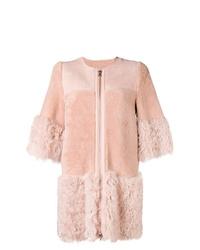 RED Valentino Zipped Fur Coat