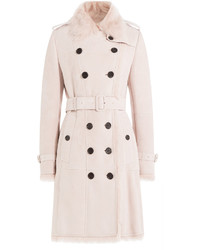 Pink Fur Collar Coat