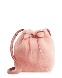 Mansur Gavriel Mini Genuine Shearling Bucket Bag