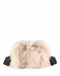 Brunello Cucinelli Two Toned Fox Fur Crossbody Bag Pink