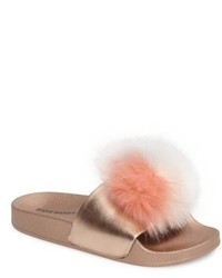 Spiral faux fur slide sandal medium 5254483