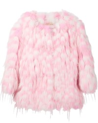 Chloé Chloe Polka Dot Fur Coat